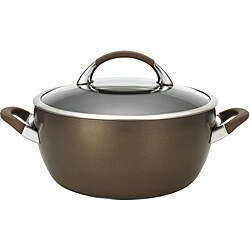 Circulon Symmetry Chocolate Hard-anodized Nonstick 5.5-quart Covered Casserole Pot