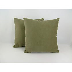 Pebble Brushed 18-inch Throw Pillows (Set of 2)