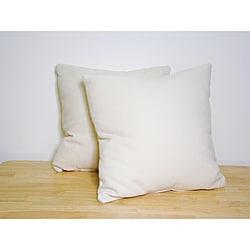 Basketweave 18-inch Throw Pillows (Set of 2)