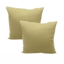Bago Natural 18x18 Throw Pillows (Set of 2)