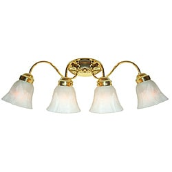Woodbridge Lighting Ridgemont 4-light Polished Brass Bath Sconce