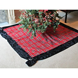 Christmas Plaid Tree Skirt by Selections by Chaumont