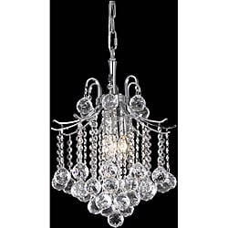 Crystal 3-light Chrome Chandelier