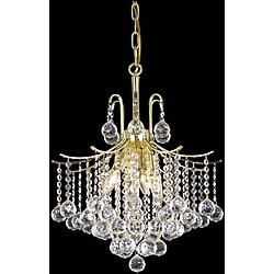 Crystal 6-light Gold Chandelier