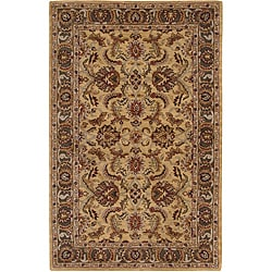 Hand-tufted Caspian Gold Wool Rug (2'6 x 4')