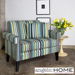 angelo:HOME Ennis Shoreline Stripe Blue Loveseat