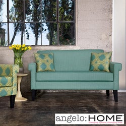 angelo:HOME Ennis Shoreline Aqua Blue Sofa