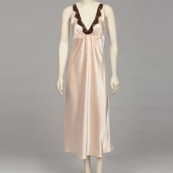 Jones New York Women's Peach Silk Nightgown