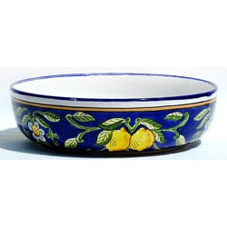 Citronique Design Ceramic 3.5-inch Deep Serving Bowl (Tunisia)