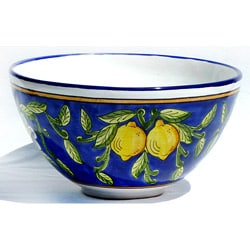 Citronique Design Ceramic 6.5-inch Deep Serving Bowl (Tunisia)