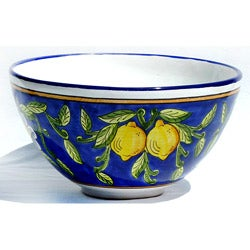 Citronique Design Ceramic 12-inch Serving Bowl (Tunisia)