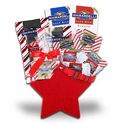 Ghirardelli Chocolate Holiday Star Gift Basket