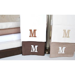 Egyptian Cotton 300 Thread Count Solid Block 'M' Monogram Sheet Set