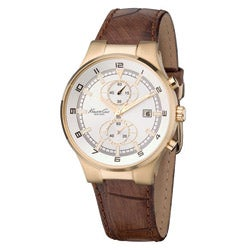 Kenneth Cole Men's 'New York' Leather Strap Chronograph Watch