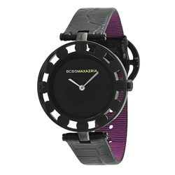 BCBG Maxazria Women's 'Florence' Leather Vintage-inspired Watch