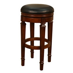 Brighton 30-inch Suede Swivel Bar Stool