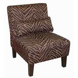 Bam Zizi Espresso Armless Accent Chair