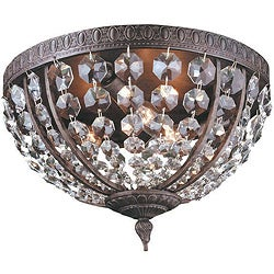 World Imports Bijoux Collection 3-light Flushmount