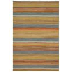 Tasius Flat Weave Gold Wool Rug (4&#39; x 6&#39;)
