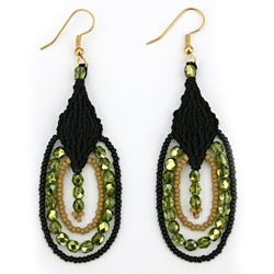 Leticia 'Nightsong' Macrame Earrings (Guatamala)