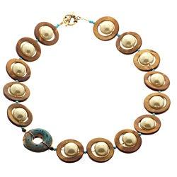 Goldtone 'Pearls of Wisdom' Necklace (USA) | Overstock.com