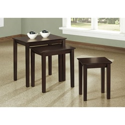 Cappuccino 3-piece Nesting Tables