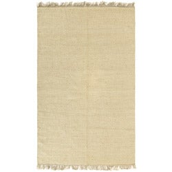 Flat-woven Earth First Natural Jute Rug (5 feet x 8 feet)