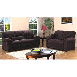 Cedar Creek Dark Brown 2-piece Sofa Set
