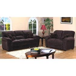 Cedar Creek Dark Brown 2-piece Sofa Set