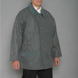 Trenders Men's Grey Wool-blend Jacket