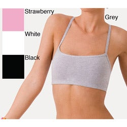 Ilusion Women's Cotton Racerback Wireless Cami Bra (Pack of 2)