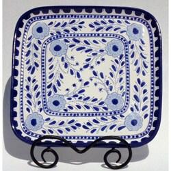 Azoura Design Ceramic 11-inch Square Platter (Tunisia)
