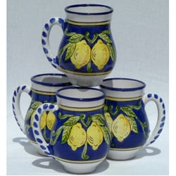 Set of 4 Citronique Design Large 16-oz Mugs (Tunisia)