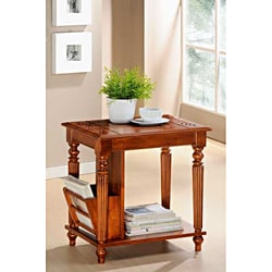 Dark Oak Solid-top Magazine Table