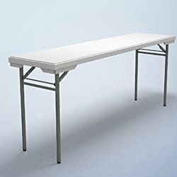 "Mayline Dark-gray/White Multi-purpose Folding Table (18"" x 72"")"
