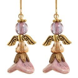 Gold 14k Fill 'Mihr' Angel Earrings