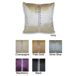 Diana Pleated Rhinestone Decorative Pillow