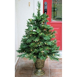 Fraser Fir 4-foot Pre-Lit Artificial Clear-Color Entrance Tree