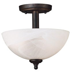 Lafayette 2-light Bronze Semi-flush