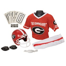 Franklin Sports Georgia Youth Football Helmet and Uniform Set
