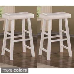 Montana 29-inch White Barstools (Set of 2)