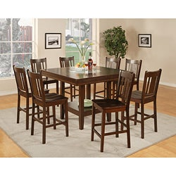 Espresso Finish 7-piece Pub Table Set
