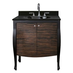 Venice 30-inch Black and Ebony Vanity