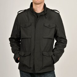 Chaps Men's Black Flap Pocket Car Coat