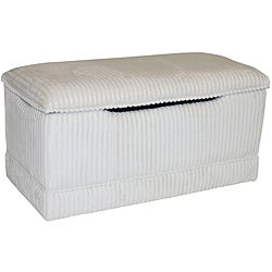 Magical Harmony Kids Ivory Chenille Deluxe Toy Box