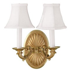 World Imports 2-Light French Gold Wall Sconce