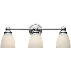 World Imports Troyes 3-Light Chrome Bath Bar