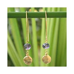 Handcrafted Gold Vermeil 'Lilac Berry' Amethyst Earrings (Thailand)