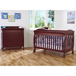 DaVinci Jacob 4-in-1 Crib with Toddler Rail in Cherry