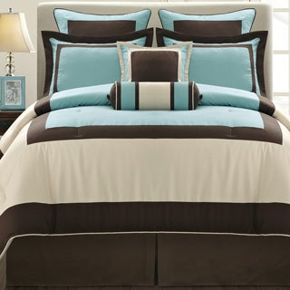 Aqua Gramercy California King-size 8-piece Comforter Set